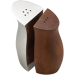 Nambe Wood And Alloy Cradle Salt And Pepper Shaker Set