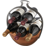 Nambe Anvil Alloy Wine Basket