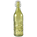 Complete Kitchen Green Glass Dimple Bottle Bail