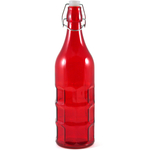 Complete Kitchen Red Glass Dimple Bottle Bail