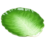 Green Ceramic Cabbage Serving Platter
