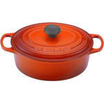 Le Creuset Signature Flame Enameled Cast Iron Oval French Oven, 1 Quart