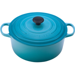 Le Creuset Signature Caribbean Enameled Cast Iron Round French Oven, 7.25 Quart