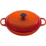 Le Creuset Signature Flame Enameled Cast Iron Braiser, 5 Quart