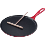 Le Creuset Cherry Enameled Cast Iron Crepe Pan, 10.75 Inch