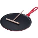 Le Creuset Cerise Cherry Enameled Cast Iron Crepe Pan, 10.75 Inch