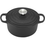 Le Creuset Signature Matte Black Enameled Cast Iron Round French Oven, 1 Quart