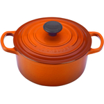 Le Creuset Signature Flame Enameled Cast Iron Round French Oven, 2 Quart