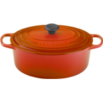 Le Creuset Signature Flame Enameled Cast Iron Oval French Oven, 6.75 Quart
