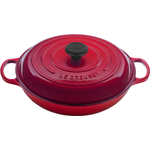 Le Creuset Signature Cherry Enameled Cast Iron Braiser, 1.5 Quart