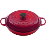 Le Creuset Signature Cherry Enameled Cast Iron Braiser, 3.5 Quart