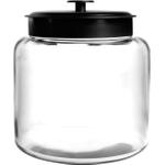 Anchor Hocking Glass Montana Jar with Black Aluminum Cover, 1.5 Gallon