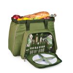 Picnic Time Toluca Pine Green and Brown Cooler