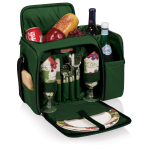 Picnic Time Malibu Hunter Green Picnic Backpack with Grape Accents
