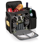 Picnic Time Malibu Black and Grey Picnic Backpack