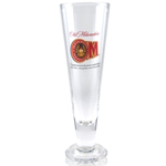 Old Milwaukee Beer Tall Pilsner Glass Officially Licensed, Set of 2