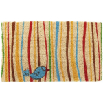 Little Groovy Bird Mid-Thickness Hand Woven Coir Doormat, 18 x 30 Inch