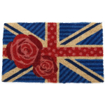 British Rose Mid-Thickness Hand Woven Coir Doormat, 18 x 30 Inch
