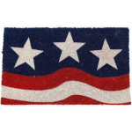 Entryways Stars and Stripes Holiday Theme Hand Woven Coir Doormat