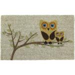 Entryways Owl Give a Hoot Hand Woven Coir Non-Slip Doormat, 17 x 28 Inch