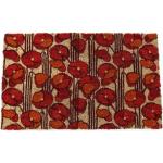 Entryways Poppies Hand Woven Coir Non-Slip Doormat, 17 x 28 Inch