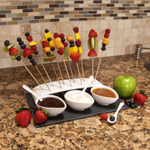 Luigi Bormioli Slate and Porcelain 8-Piece Skewer Serving Set