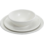 Nordic Ware White 3 Piece Microwave Dishware Set, Service for 1
