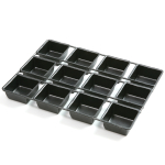 Norpro Non-Stick Stainless Steel Square Cupcake Pan, 12 Cup