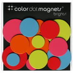 Three by Three Brights Color Dot Magnet, Pack of 15