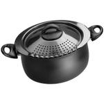 Bialetti Trends Black Aluminum Pasta Pot, 5 Quart