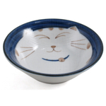 Blue Sleepy Cat Porcelain Rice and Soup Bowl
