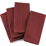 Dark Red Checkered Cloth Dinner Napkin