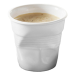 Revol Froisses White Porcelain 2.75 Ounce Crumpled Espresso Tumbler