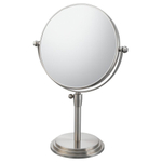 Mirror Image Brushed Nickel Classic Adjustable 5x Magnifying Vanity Mirror
