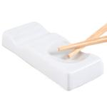 White Porcelain 3.25 Inch Chopstick Rest