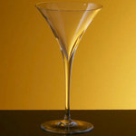 Bottega del Vino Vertex Crystal Martini Glass, Set of 4
