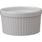 HIC Harold Import Co White Porcelain 10 Ounce Souffle Dish