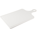 Farberware White Paddle Cutting Board with Drain