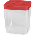 Click Clack Cube Food Storage Container with Red Lid, 3.5 Quart