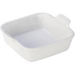 Le Creuset Heritage White Stoneware Square Baking Dish, 5 Inch