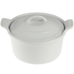 Le Creuset Heritage White Stoneware 18 Ounce Covered Cocotte