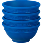 Le Creuset Marseille Blue Silicone Pinch Bowl, Set of 4