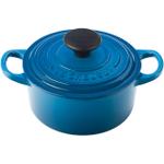 Le Creuset Signature Marsielle Blue Enameled Cast Iron Round French Oven, 1 Quart