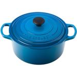 Le Creuset Signature Marsielle Blue Enameled Cast Iron Round French Oven, 3.5 Quart