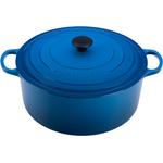 Le Creuset Signature Marseille Blue Enameled Cast Iron Round French Oven, 13.25 Quart