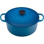Le Creuset Signature Marsielle Blue Enameled Cast Iron Round French Oven, 7.25 Quart