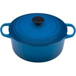Le Creuset Signature Marsielle Blue Enameled Cast Iron Round French Oven, 5.5 Quart