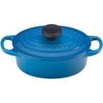 Le Creuset Signature Marsielle Blue Enameled Cast Iron Oval French Oven, 1 Quart