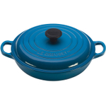 Le Creuset Signature Marseille Blue Enameled Cast Iron Braiser, 1.5 Quart