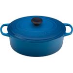 Le Creuset Signature Marseille Blue Enameled Cast Iron Oval French Oven, 5 Quart